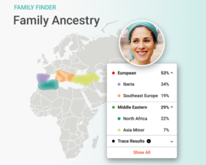 Photo: Family Finder's myOrigins tool.