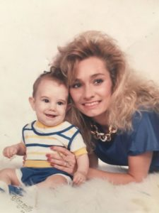 Photo of Cindy with her son, Christian.