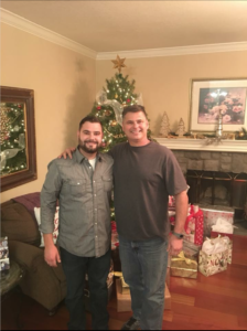 Photo of Christian and his father Joe.