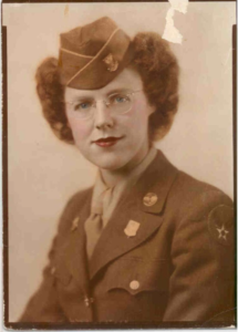 Photo: Donna's mother, Women's Army Corps.