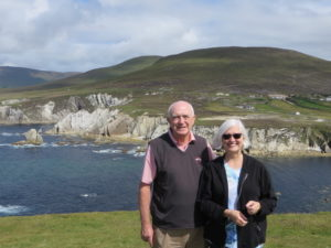 Photo: Patricia and her new cousin who led her group trip to Ballygar.