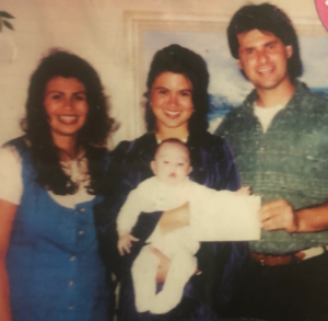 Photo of Sandy, Joe, and their daughters.